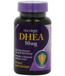 Natrol DHEA 50mg, 60 comprimés (paquet de 3).