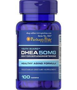 Puritan's Pride DHEA 50 mg-100 comprimés.