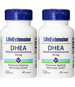 Life Extension, DHEA 50 Mg, 60-Capsules (lot de 2 boites)