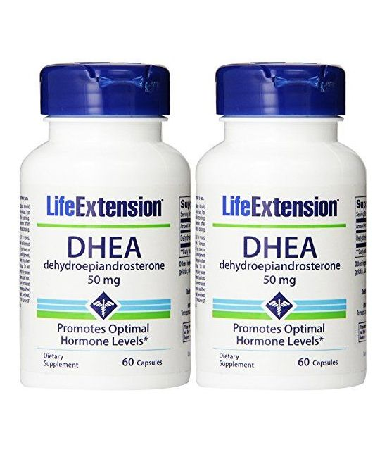 Life Extension, DHEA 50 Mg, 60-Capsules (lot de 2 boites)
