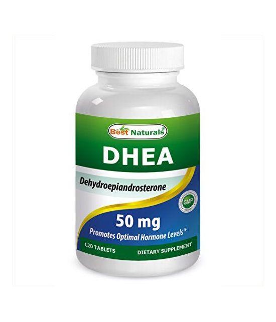 Best Naturals DHEA 50 mg, 120 comprimés.