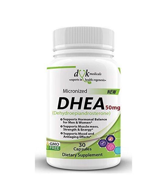 Supplément DHEA 50mg.DVK MEDICALS.