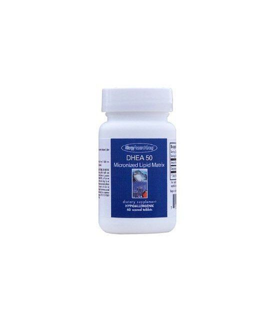 Allergy Research Group Dhea micronisée 50 mg, 60 capsules