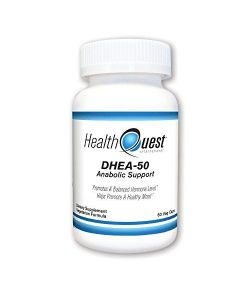 HealthQuest DHEA, support anabolisant, 50mg, 60 caps