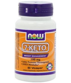 NOW 7-KETO 100 mg,60 Capsules.