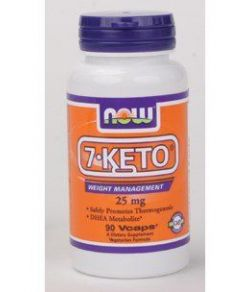 Now Foods 7-KETO, 90 Caps, 25 mg