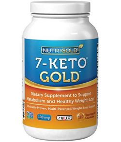 Nutrigold 7-Keto 100mg, 120 capsules végétariennes.