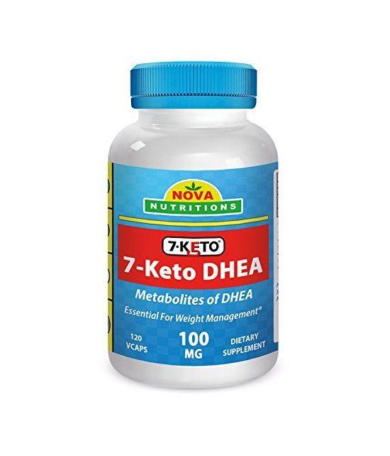 7-KETO 100 mg 120 caps par Nova Nutritions.