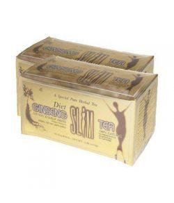 Diet Ginseng Slim Tea pour la perte de poids, (2 paquets )