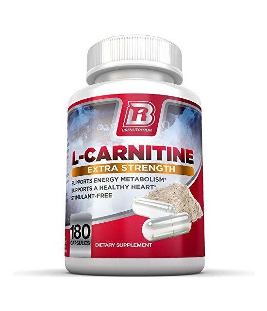 BRI Nutrition L-Carnitine, 1000 mg par portion.