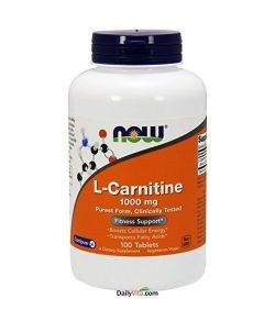 NOW L-Carnitine 1000 mg,100 capsules.