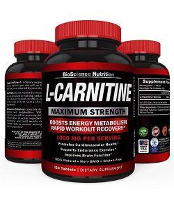 L-Carnitine 1000mg, 120 comprimés.