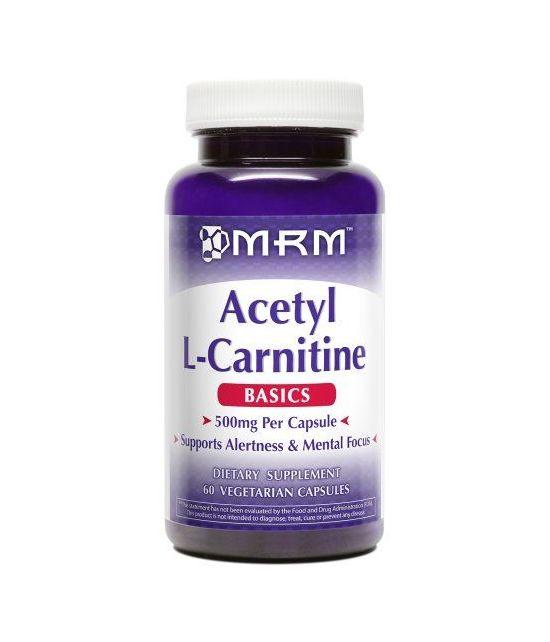 MRM Acétyle L-carnitine 500mg par capsule.