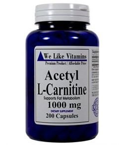 Acétyle L-Carnitine 1000mg 200 Capsules.