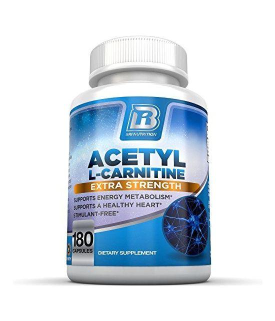 BRI Nutrition Acétyl l-Carnitine 500mg par portion.