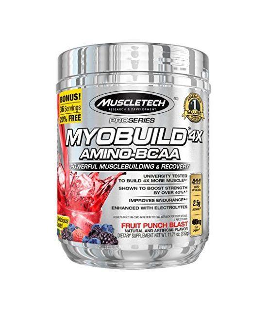 MuscleTech MyoBuild 4X, 332 grammes.