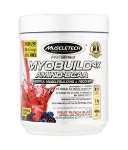 MuscleTech Série Pro Myobuild amino-BCAA 4X Fruit Punch souffle Dietary Supplement 1171 oz