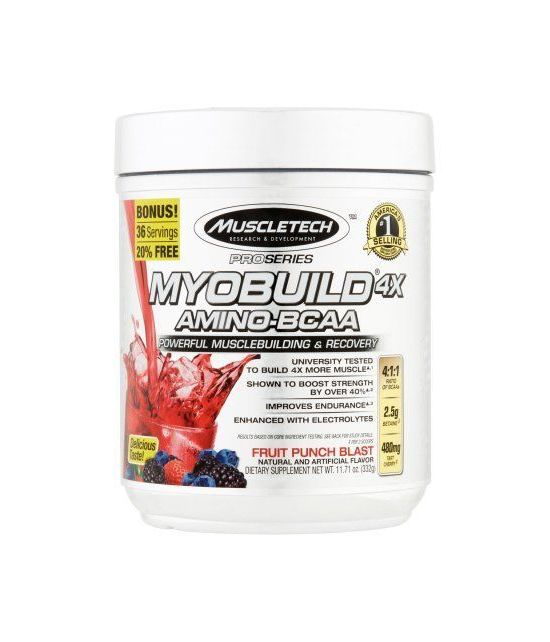 MuscleTech Série Pro Myobuild amino-BCAA 4X Fruit Punch souffle Dietary Supplement 1171 oz