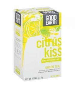 Good Earth décaféiné vert avec des sacs de thé Citronnelle 18 ct
