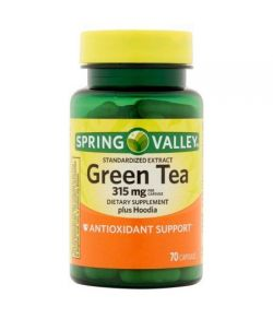 Spring Valley Thé vert plus Hoodia Compléments alimentaires Capsules 630 mg 70 ct