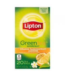 Lipton Sacs orange -amp- Passionfruit Thé vert au jasmin 20 ct