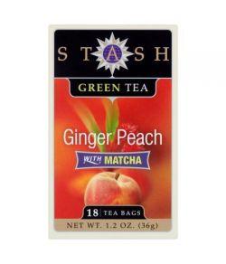 Stash Thé Ginger Peach Thé vert Matcha 18 sachets de thé 36g