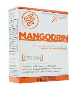 Truderma Mangodrin Stimulant Mango gratuit africaine perte de poids supplément 90 count