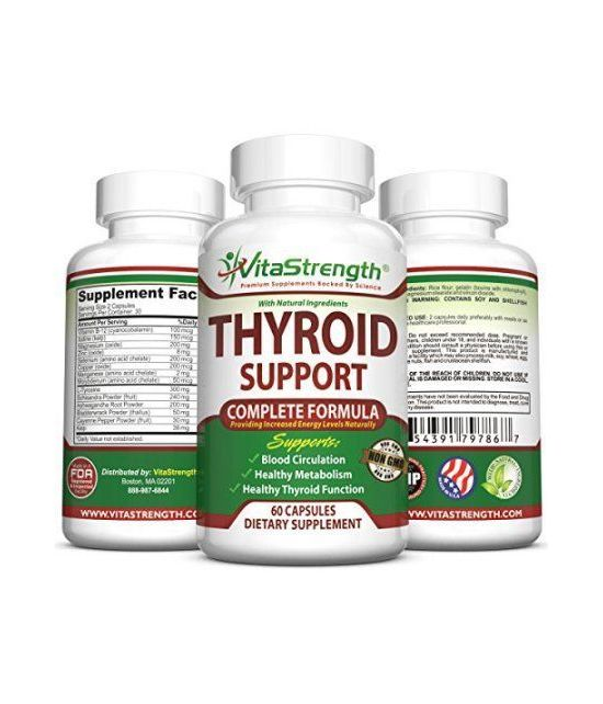 Soutien de la thyroïde Premium - Formule complète pour aider la perte de poids et améliorer l'énergie avec l'iode Varech Var