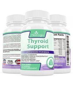 Natrogix Soutien de la thyroïde formule avec l'iode et B12 - Prise en charge la perte saine du métabolisme et du poids solutio