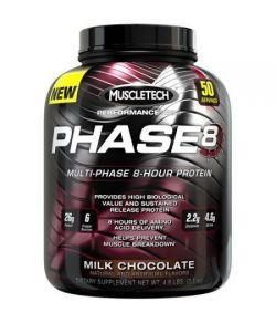 MuscleTech Performance Series Phase8 Multi-Phase 8 heures Chocolat au lait de protéines Complément alimentaire en poudre 46 li