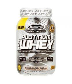 MuscleTech Essential Series Platinum 100% de protéines de lactosérum Isoler et Peptides Biscuits et crème de suppléments ali