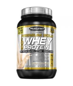 MuscleTech Or Vanilla Ice Cream Prime de protéines de lactosérum Compléments alimentaires 72 oz
