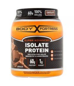 Body Fortress Super Advanced 100% de protéines Isoler Chocolat Complément alimentaire en poudre 21 oz