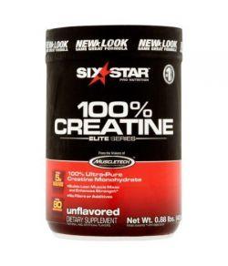 six star pro nutrition Série Elite Unflavored 100% Créatine en poudre 088 lb
