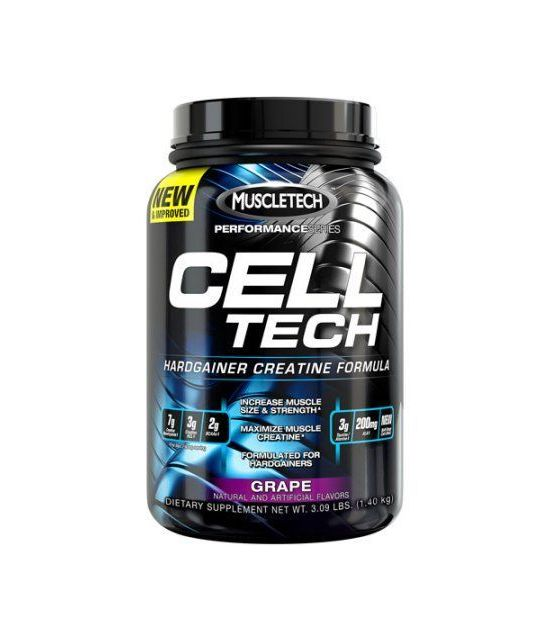 MuscleTech Cell Performance Series Tech Hardgainer Créatine Formule poudre raisin Compléments alimentaires 309 livres