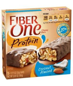 Fiber One protéines Chewy Coconut Bar aux amandes 5 - 117 oz Bars