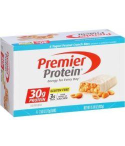 Premier Protein yogourt Peanut Crunch Barres de protéines 253 oz 6 count