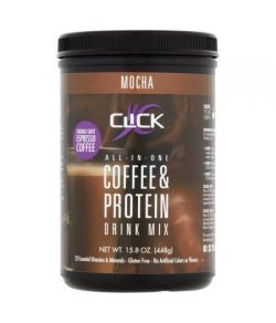 Cliquez protéines Mocha Espresso Drink Mix 158 oz