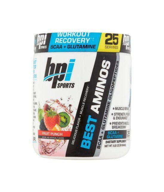 BPI Sports Les meilleurs Aminos BCAA - Glutamine Fruit Punch poudre 882 oz