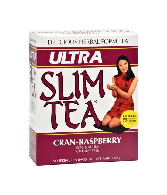 Hobe Labs Ultra Slim Tea Cran-framboise - 24 sachets de thé