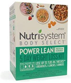 NUTRISYSTEM BODY SELECT POWER LEAN KIT DE PERTE DE POIDS EN 5 JOURS