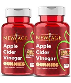 APPLE CIDER VINEGAR GUMMIES BY NEW AGE 2PACK 120 CAPS