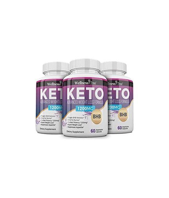 KETO DIET PILLS MAX STRENGTH 1200MG 60 CAPS 3 PACK