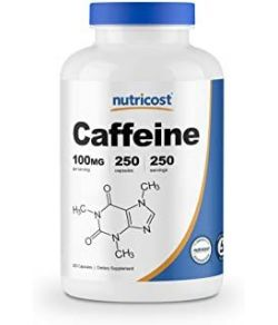 NUTRICOST CAFFEINE PILLS 100MG PER SERVING 250 CAPSULES