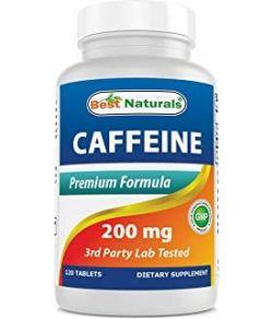 BEST NATURALS CAFFEINE PILLS 200MG 120 CAPS