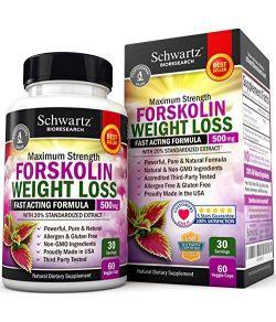 Forskolin Extrait Pour supprimer l'appetit 60 Caps