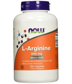 L-Arginine 500mg, 250 Capsules